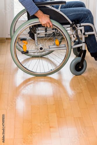 canvas print picture Mann im Rollstuhl