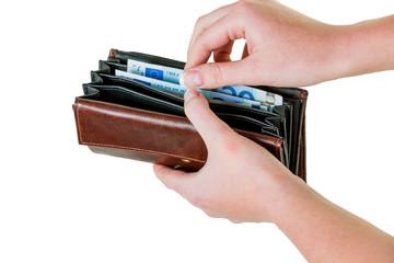 Geldbörse mit Euroscheinen