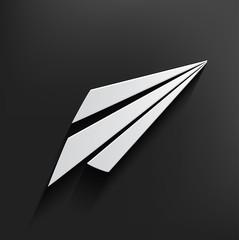 Rocket symbol on dark background,clean vector