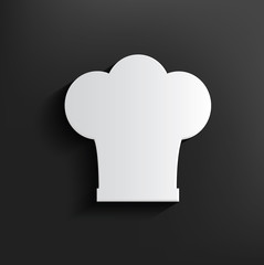 Hat cooking symbol on black background,clean vector