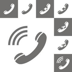 Icono serie teléfono BN
