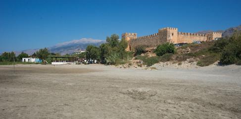 Castle at Frangokastello beach, Crete, Greece