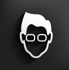 Nerd symbol on background,clean vector