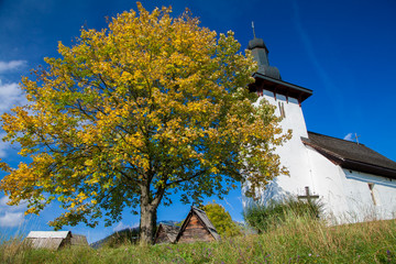 Templar church at village Martincek, Slovakia