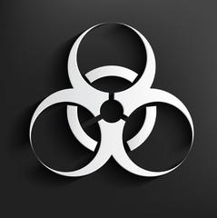 Black biohazard symbol on background,clean vector