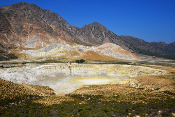Nissyros crater Greece