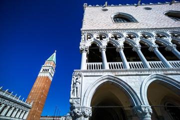 Italien, Venedig. Markusplatz und Campanile