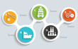 Logistic and industry info graphics design,clean vector - 71494099