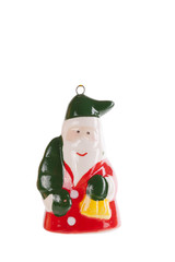 New year decoration santa claus isolated on a white background