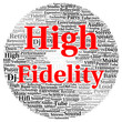 canvas print picture - High fidelity word cloud shape