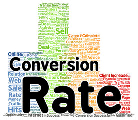 Conversion rate word cloud shape