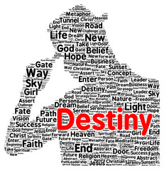 Destiny word cloud shape