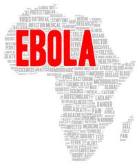 Ebola word cloud shape