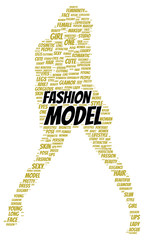 Fashion model word cloud shape