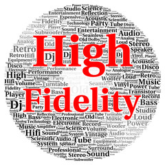 High fidelity word cloud shape