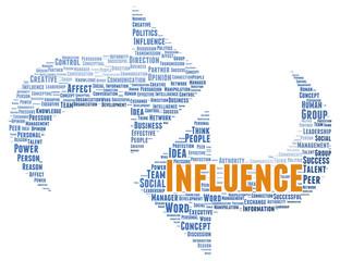 Influence word cloud shape