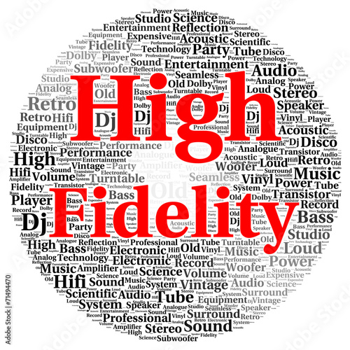 canvas print picture High fidelity word cloud shape