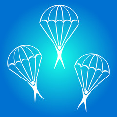 Parachute jumper icon