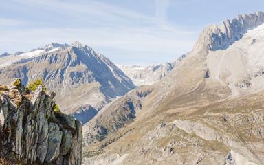 Riederalp, Dorf, Aletschgletscher, Wallis, Alpen, Schweiz