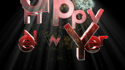 2014 Happy New Year background with sound firwworks