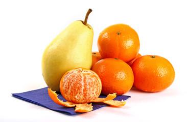 Mandarins and pear