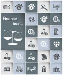 Financial icon set design,clean vector