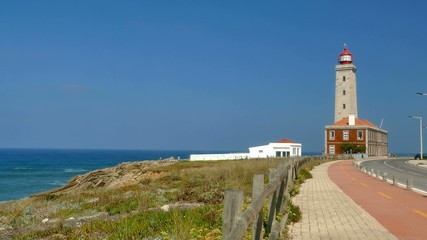 4K - Lighthouse at Sao Pedro de Moel, Portugal