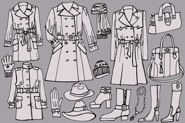 Female clothes set. Autumn ,winter,spring wear.Fashion