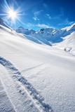 Fototapety The italian alps in winter