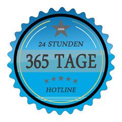 ql56 QualityLabel - 24 Stunden 365 Tage Hotline - blau g2033