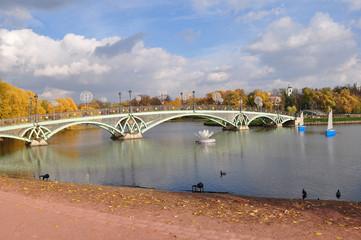 View of the bridge to Tsaritsyno.