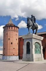 Monument to Yuri Dolgoruky. Kremlin in Kolomna, Russia.