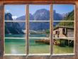 Leinwandbild Motiv Blick aus dem Fenster
