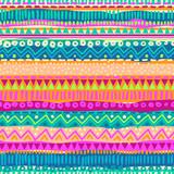 Fototapety Colorful ethnic stripe seamless background