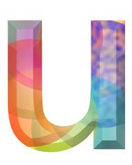 renkli u harfi tasarımı