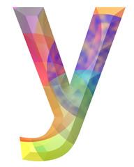 renkli y harfi tasarımı