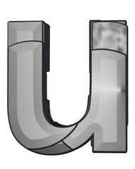 gri siyah renkli u harfi tasarımı