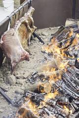 Pork ribs roasting