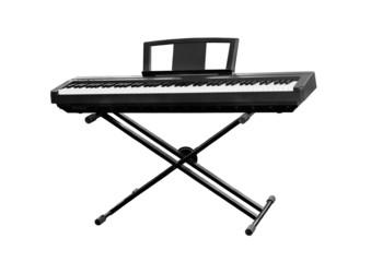 Black synthesizer isolated on white