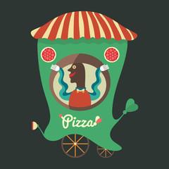Pizza seller.