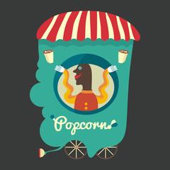 Popcorn seller.