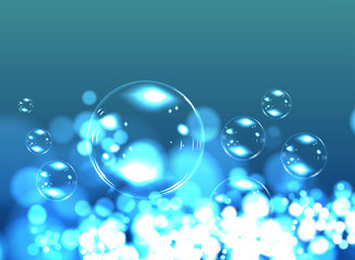 Bubble soap background