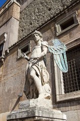 Rome, Italy. A figure Angel in the Castle of the Sacred Angel