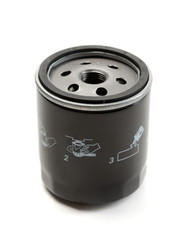 Black car oil filter.