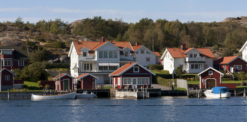Swedish coastal village