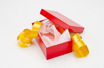 Christmas Present. Open gift box.