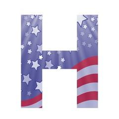american flag letter H