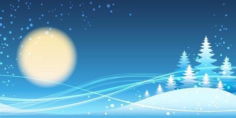 Chrismas and new year festive blue theme