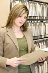 Examining A File Folder