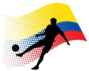 ecuador soccer player against national flag
